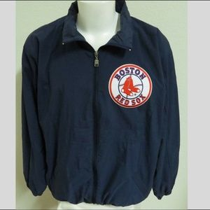 XL Blue Red Sox Full Zip Russell Mens #503 Jacket
